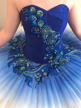 Royal blue & peacock appliques