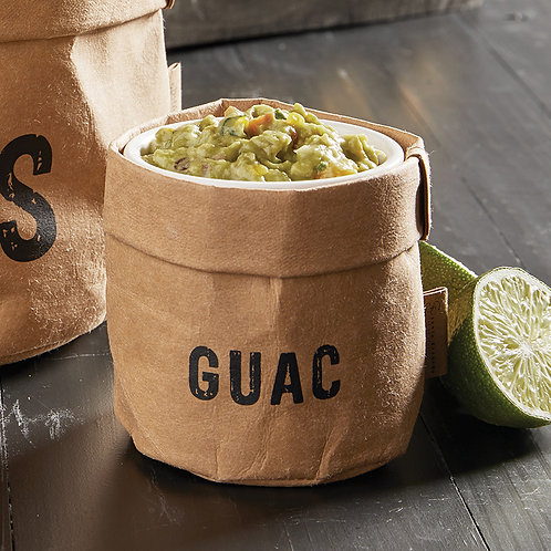Guac Dish - bold text
