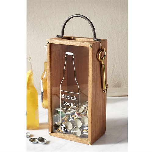 Drink Local Beer Cap Box