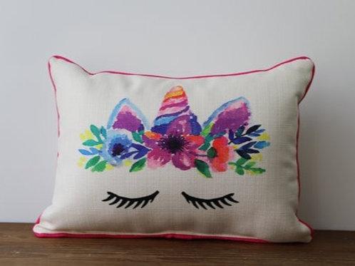 Pink Unicorn Pillow