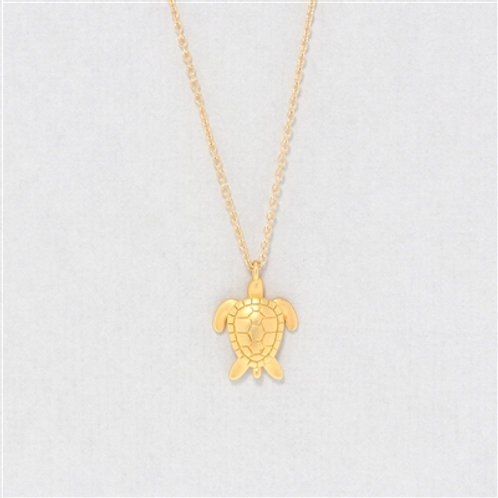Turtle Dainty Charm Necklace