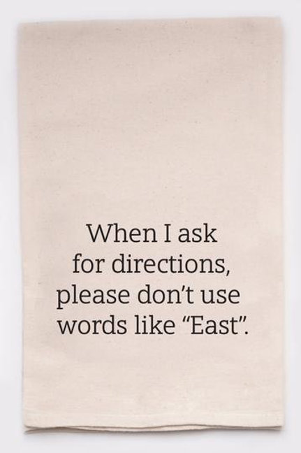 Directions Tea Towel