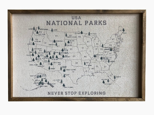 National Parks Cork Board