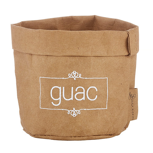 Guac Dish - white text