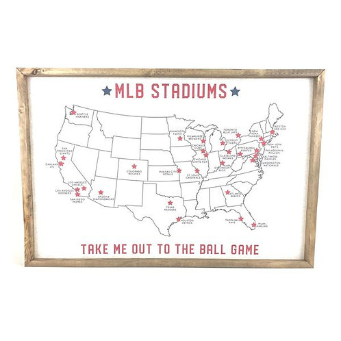 MLB Stadiums Cork Board
