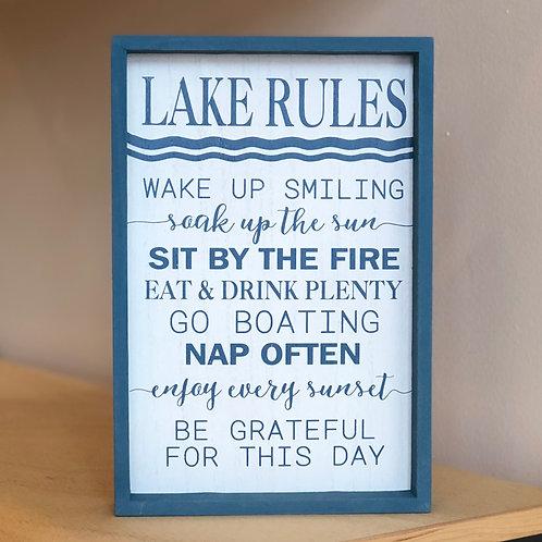 Lake Rules Sign