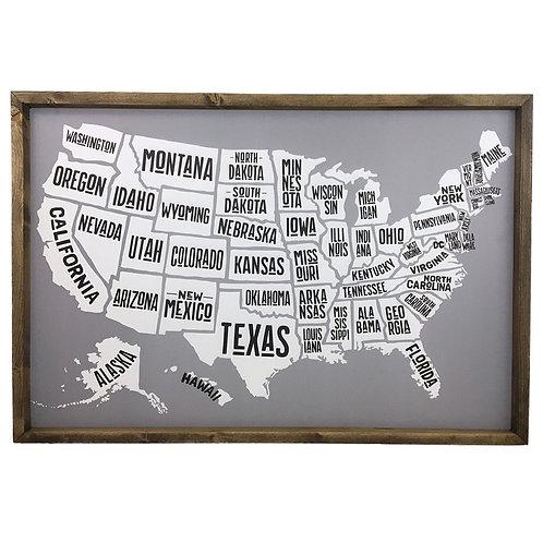 States Cork board