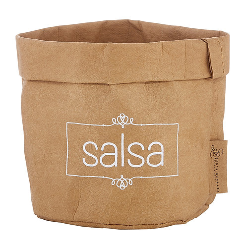 Salsa Dish - white text