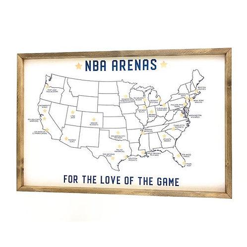 NBA Arenas Cork Board