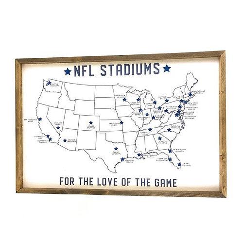 NFL Stadiums Cork Board