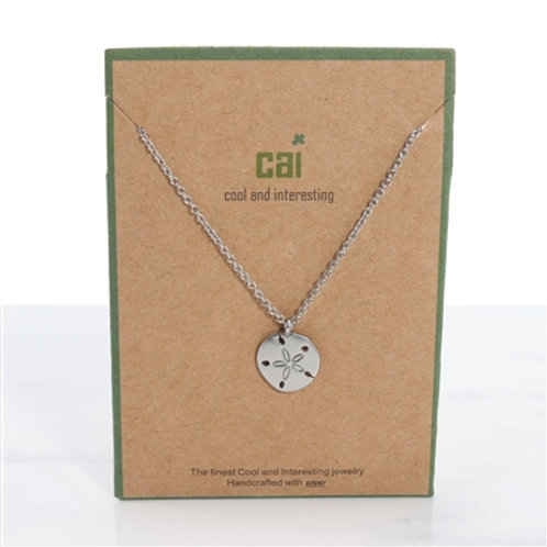 Silver Dollar Dainty Charm Necklace
