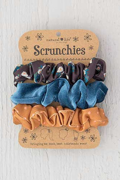 Cocoa Daisies Scrunchie Set