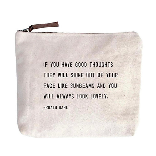 Always Look Lovely Canvas Zip Bag
