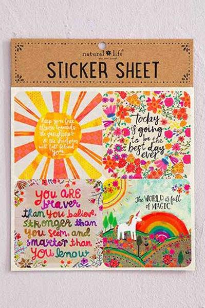 Face the Sunshine Sticker Sheet