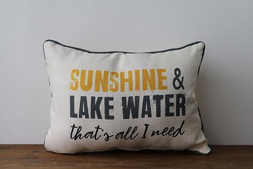 Sunshine & Lake Water Pillow
