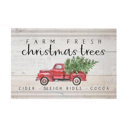 Farm Fresh Trees Pallet Sign