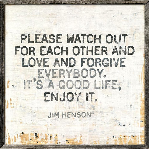 Jim Henson's Enjoy It Wall Art