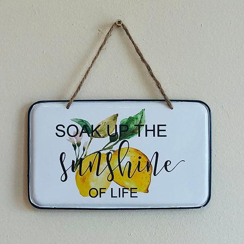 Sunshine of Life Enamel Sign