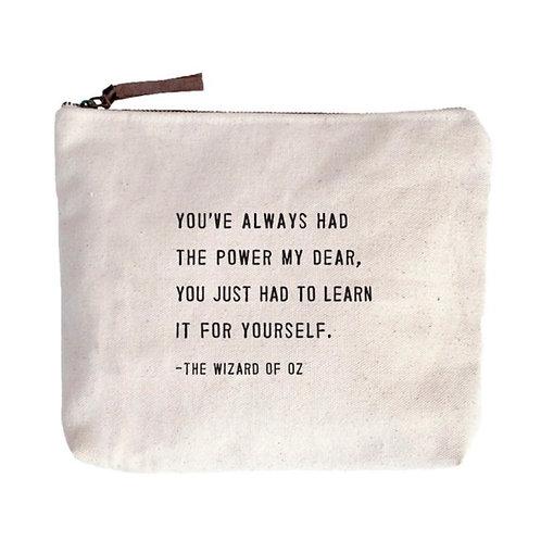 Wizard of Oz Canvas Zip Bag