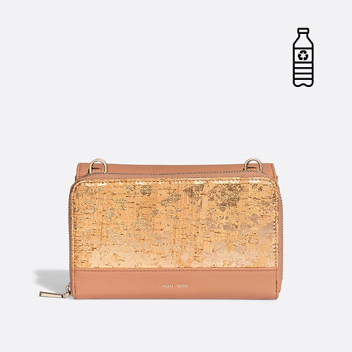 2 in 1 Purse/Wallet - Apricot