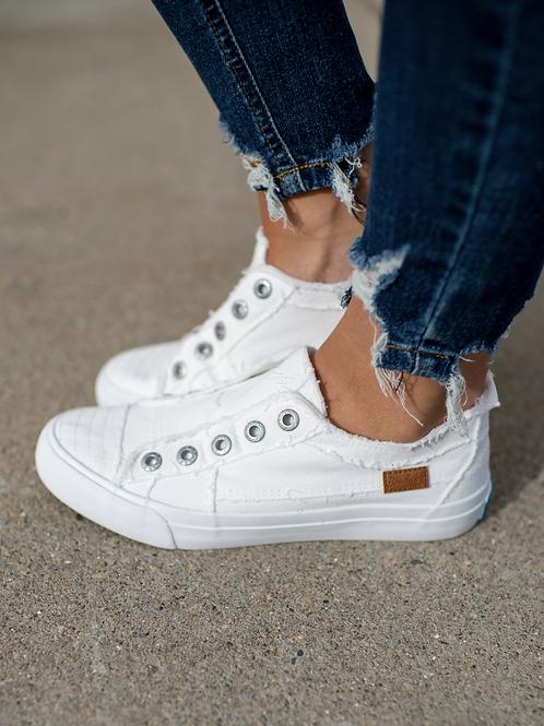 Blowfish White Slip On Sneaker
