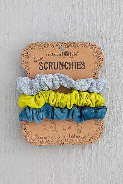 Indigo Tie-Dye Scrunchie Set