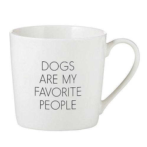 Dogs are my Favorite People Cafe Mug