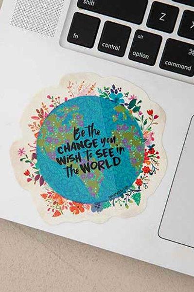 Be the Change Vinyl Sticker