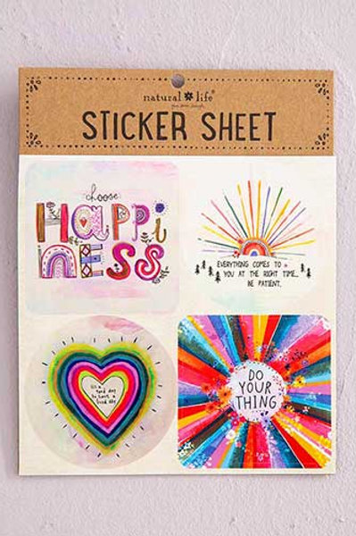 Choose Happy Sticker Sheet