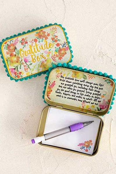 Gratitude Prayer Box - Teal