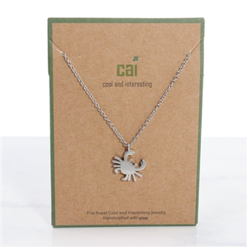 Crab Dainty Charm Necklace