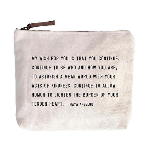 My Wish For You Canvas Zip Bag