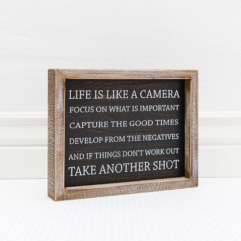 Life is Like a Camera, tabletop