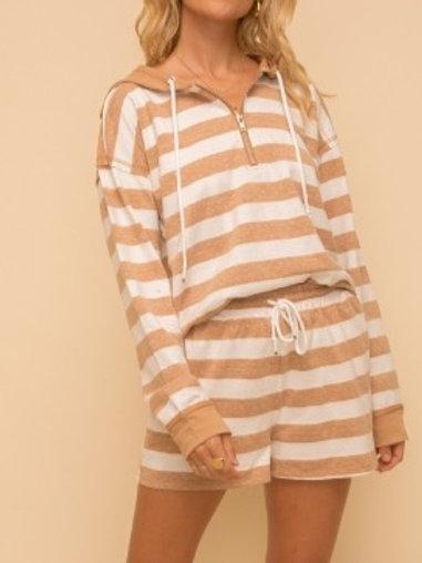 Candie Stripe Hoodie
