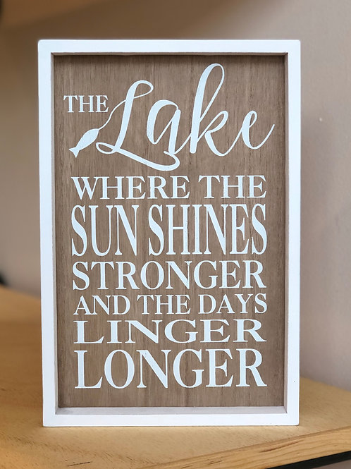 Linger Longer Lake Sign