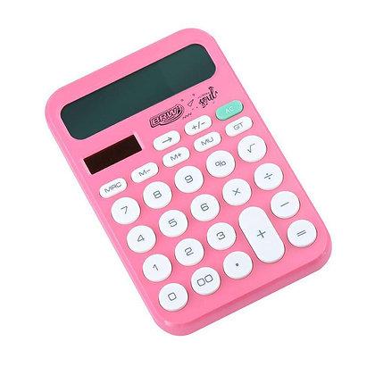 Calculadora Grande 12 Digitos Soul BRW Rosa