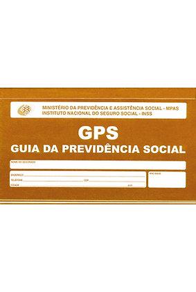GPS CARNE 12X2 CONTRIBUICAO INSS 180x110mm