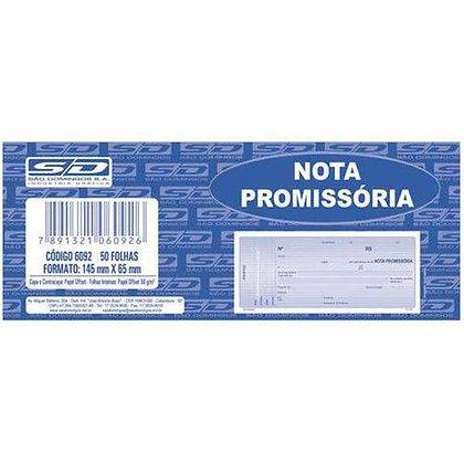 Nota Promissória Mini 145x65mm São Domingos