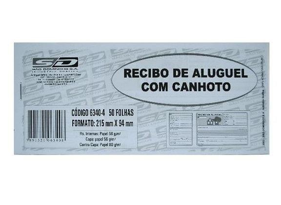 Recibo de Aluguel com Canhoto 215x94mm São Domingos