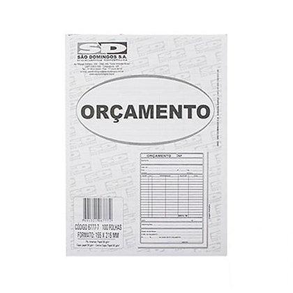 Orçamento bloco 100 fls 137x207mm São Domingos