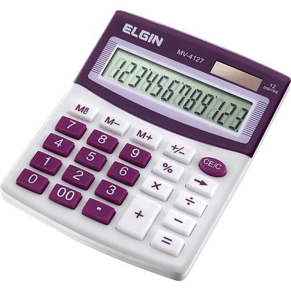 Calculadora 12 Digitos Roxo MV-4127