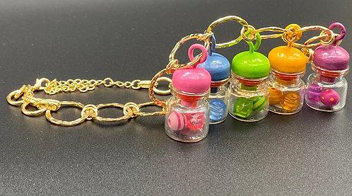 Pastel bottles necklace