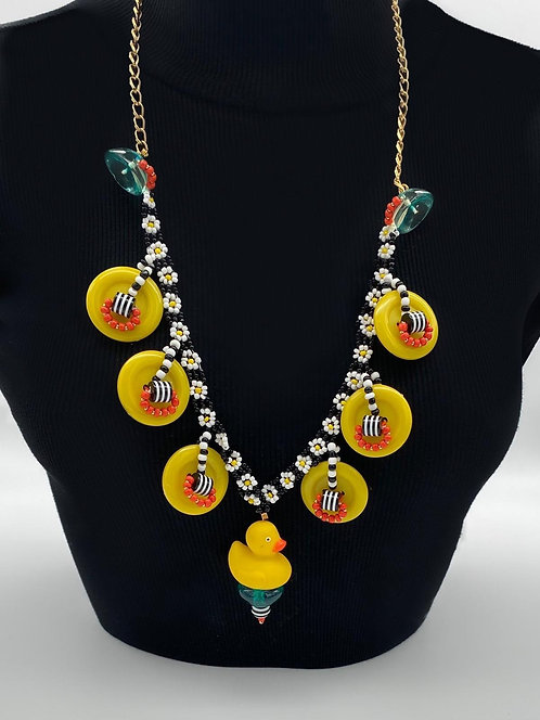 Duck long necklace