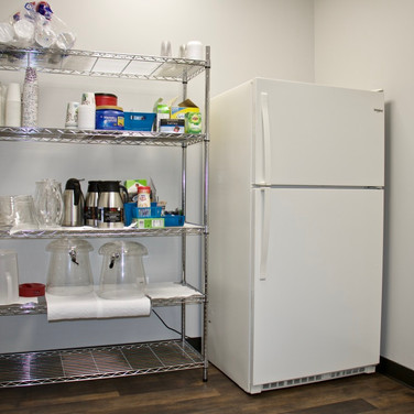 Kitchen Fridge & Shelving