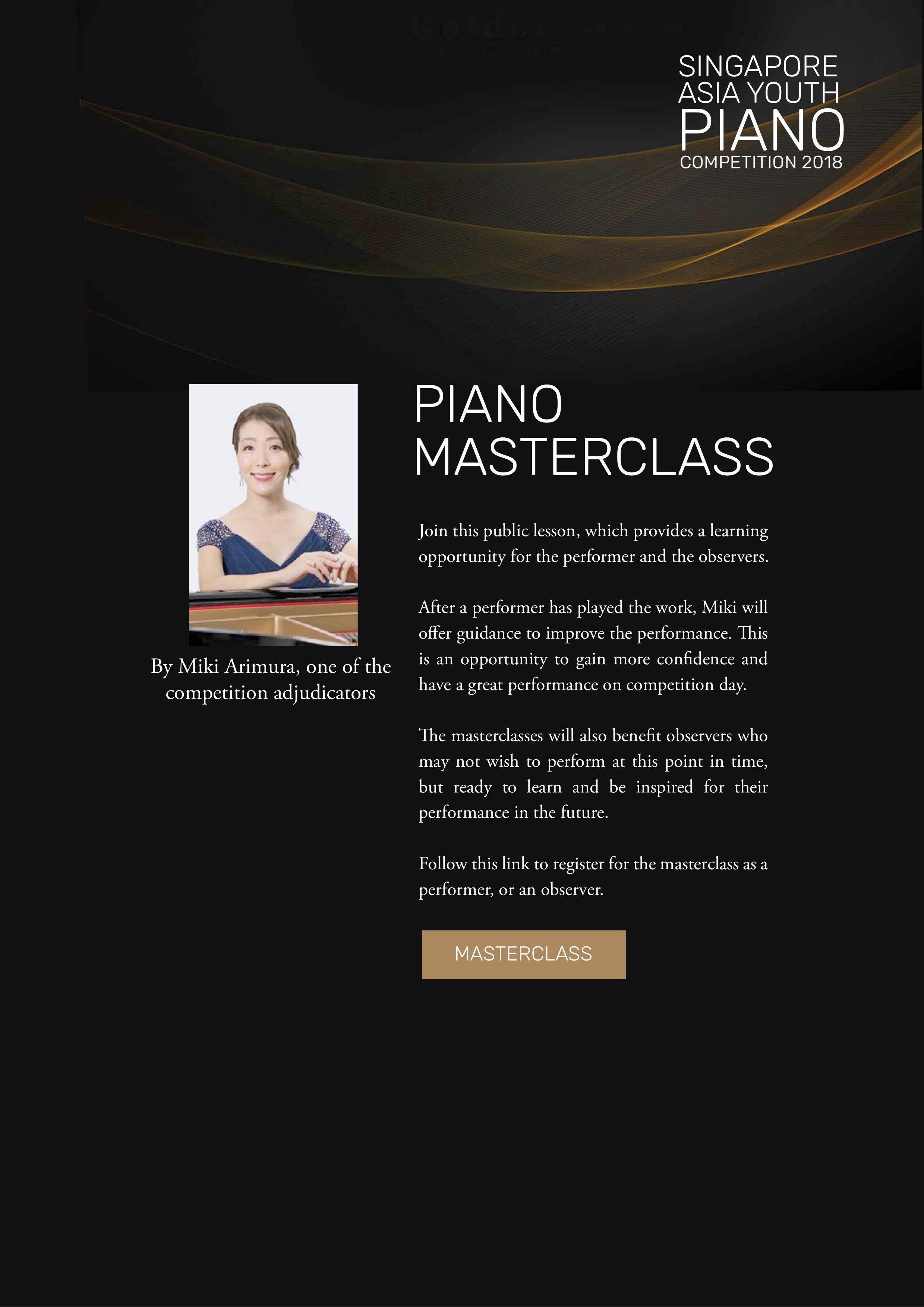 Miki Arimura Piano Master Class | mimi piano studio | about