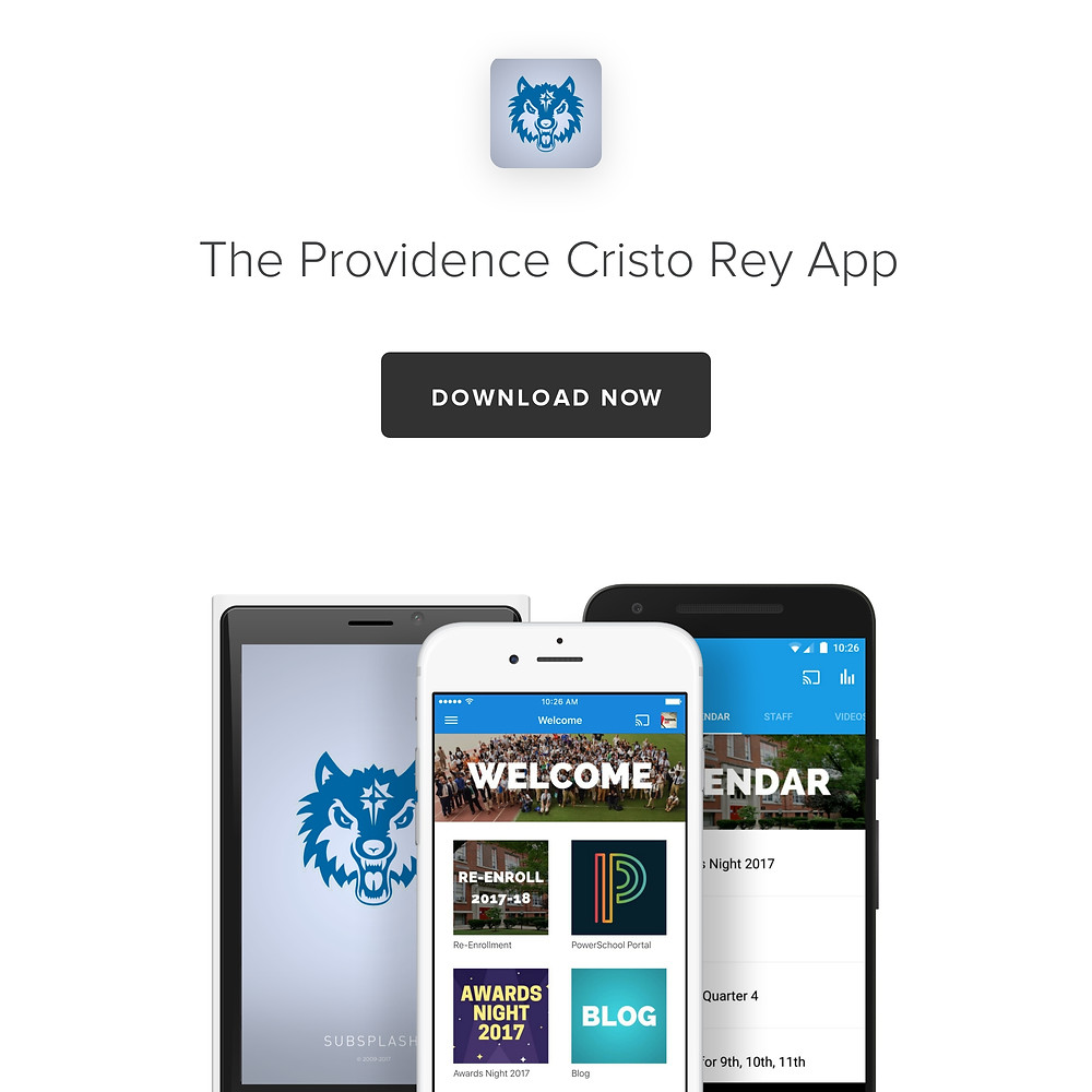 Download the Providence Cristo Rey App
