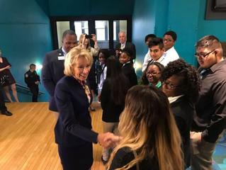 Education Secretary Visits Providence Cristo Rey High School
