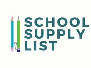 2017-18 School Supply List