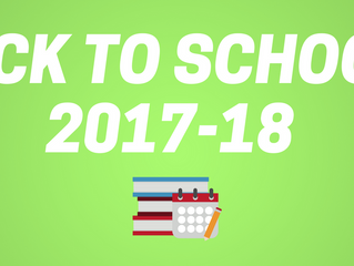 Important 2017-18 Back to School Dates