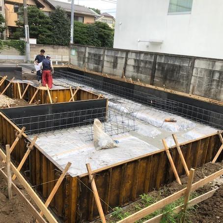 【武蔵野市】 基礎工事が始まりました!